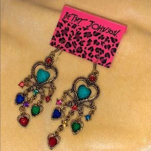 Betsey Johnson Love Heart Earrings 🌿🆕🌿